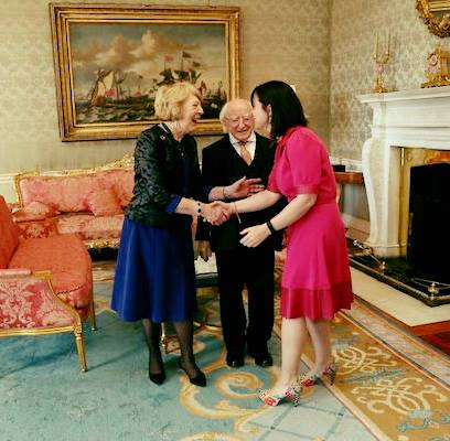 meeting president michael d higgins in Aras an Uachtarain in the Phoenix Park Dublin