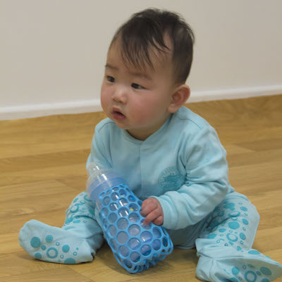 Grip® - Baby Bottle Gripper (Sky)